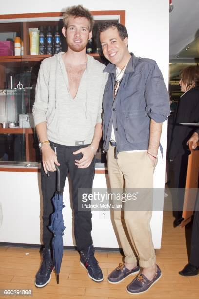 Jordan Greenen and Kristian Laliberte attend RODOLFO VALENTIN'S Salon Spa Preview Party at 694 Madison Avenue on June 15 2009 in New York City