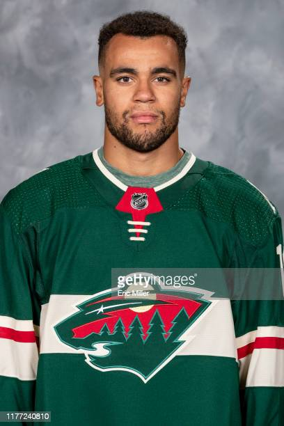 Jordan Greenway of the Minnesota Wild poses for his official headshot for the 2019-2020 season on September 12, 2019 at the Tria Practice Rink of the...