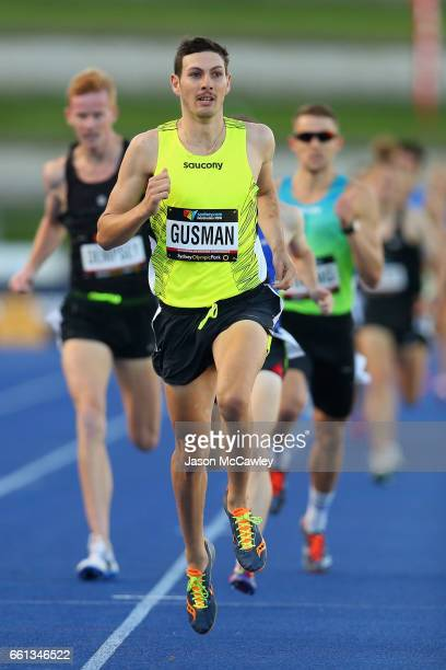Jordan Gusman of the ACT competes in the mens open 1500m 1st round during day six of the Australian Athletics Championships at Sydney Olympic Park...