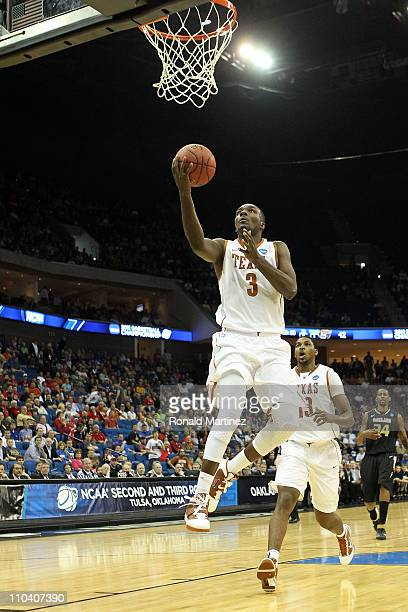 Jordan Hamilton of the Texas Longhorns goes up for a shot against the Oakland Golden Grizzlies during the second round of the 2011 NCAA men's...
