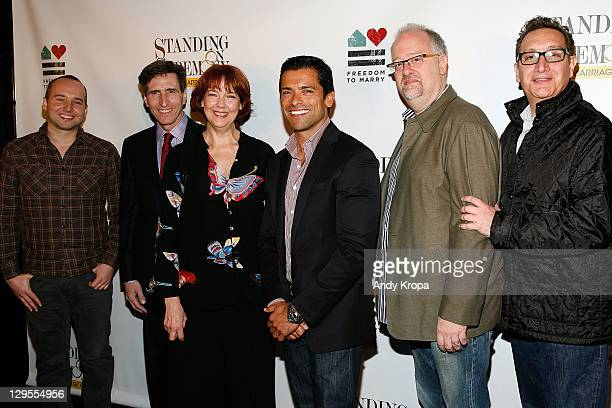 Jordan Harrison Paul Rudnick Harriet Harris Mark Consuelos Doug Wright and Moises Kaufman attend 'Standing Ceremony's The Gay Marriage Plays' meet...
