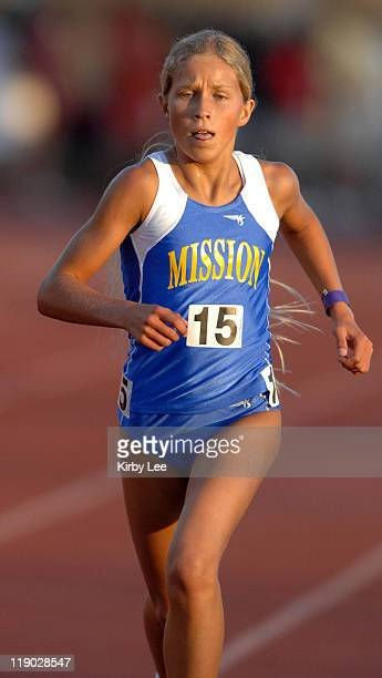 Jordan Hasay of San Luis Obispo Mission Prep won the girls' 3200 meters in 100676 in the CIF State Track Field Championships at Hughes Stadium in...