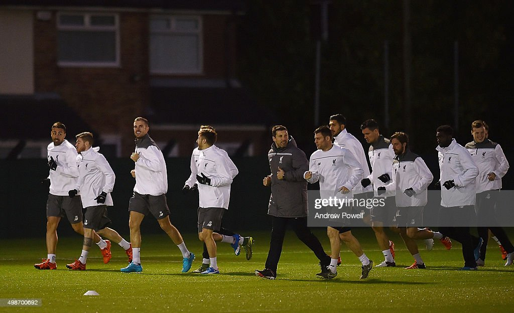 Liverpool FC Training And Press Conference : News Photo