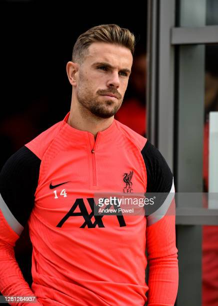 Jordan Henderson captain of Liverpool during a training session ahead of the UEFA Champions League Group D stage match between Liverpool FC and Ajax...
