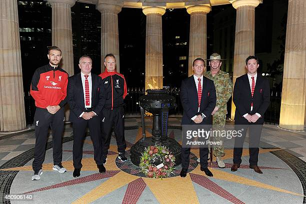 Jordan Henderson captain of Liverpool Ian Ayre chief executive officer of Liverpool Sean O'Driscoll assistant manager of Liverpool Brendan Rodgers...