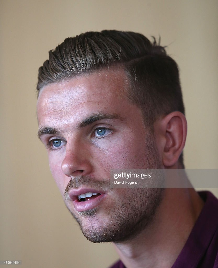 Jordan Henderson faces the media during the England press conference held at St Georges Park on June 4, 2015 in Burton-upon-Trent, England.