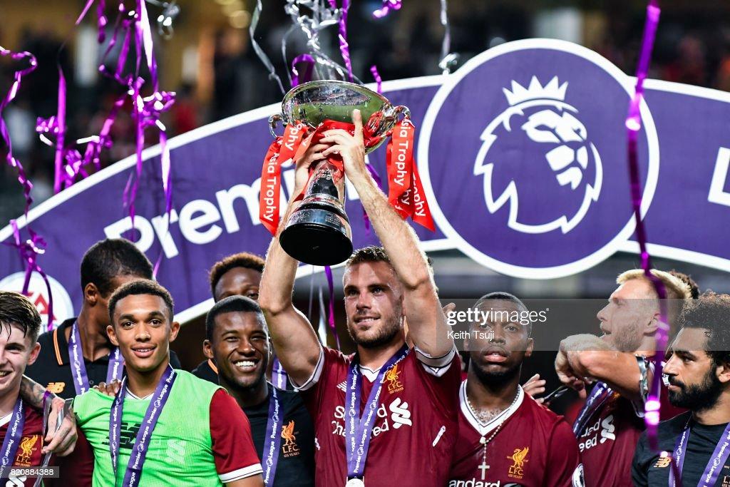 Liverpool FC v Leicester City FC: Premier League Asia Trophy : News Photo