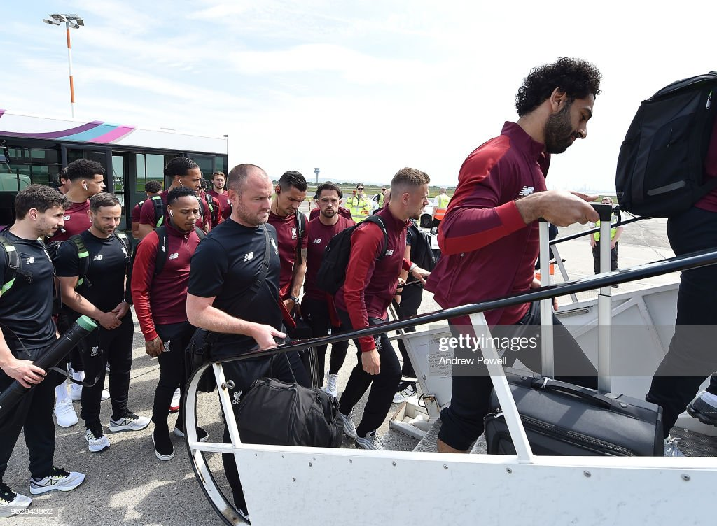 Liverpool FC Team Depart For UEFA Champions League Final In Kiev