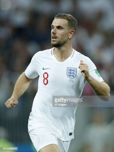 Jordan Henderson of England during the 2018 FIFA World Cup Russia Semi Final match between Croatia and England at the Luzhniki Stadium on July 11...