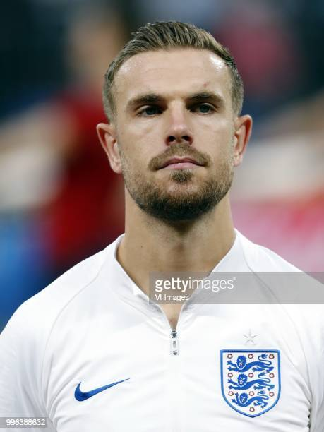 Jordan Henderson of England during the 2018 FIFA World Cup Russia Semi Final match between Croatia and England at the Luzhniki Stadium on July 01...