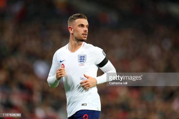 Jordan Henderson of England during the 2020 UEFA European Championships Group A qualifying match between England and Czech Republic at Wembley...