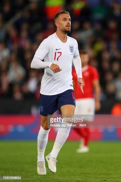 Jordan Henderson of England during the International Friendly match between England and Switzerland at The King Power Stadium on September 11, 2018...