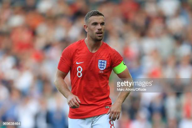 Jordan Henderson of England during the International Friendly match between England and Costa Rica at Elland Road on June 7 2018 in Leeds England