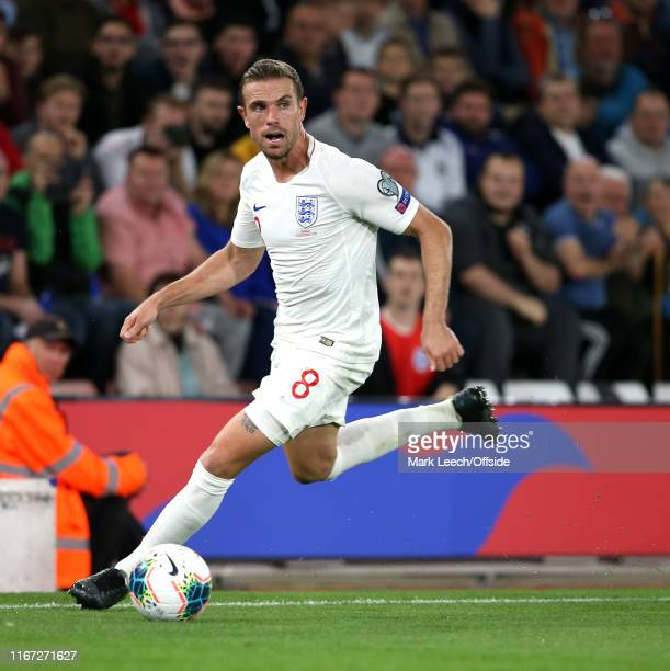 Jordan Henderson of England during the UEFA Euro 2020 qualifier match between England and Kosovo at St Mary's Stadium on September 10 2019 in...