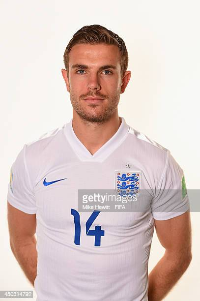 Jordan Henderson of England poses during the official FIFA World Cup 2014 portrait session on June 8 2014 in Rio de Janeiro Brazil