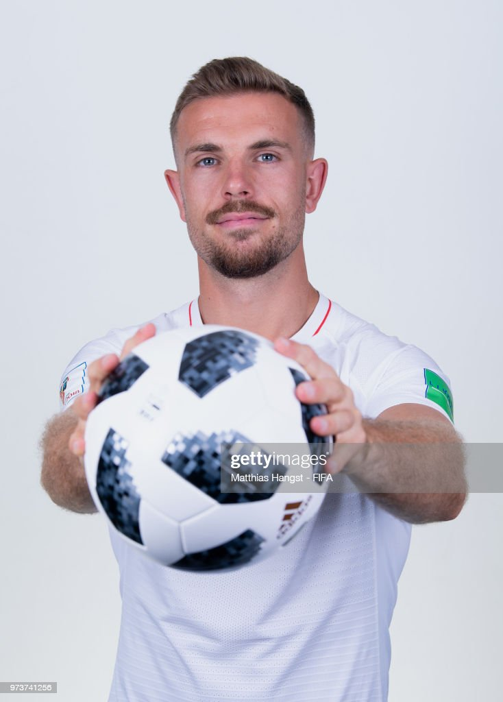 Jordan Henderson of England poses for a portrait during the official FIFA World Cup 2018 portrait session at on June 13, 2018 in Saint Petersburg, Russia.