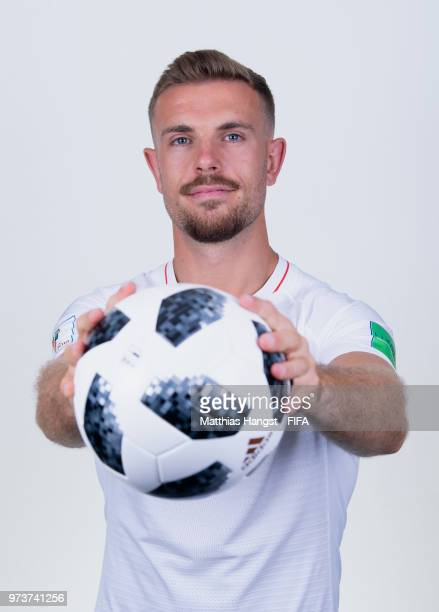 Jordan Henderson of England poses for a portrait during the official FIFA World Cup 2018 portrait session at on June 13 2018 in Saint Petersburg...