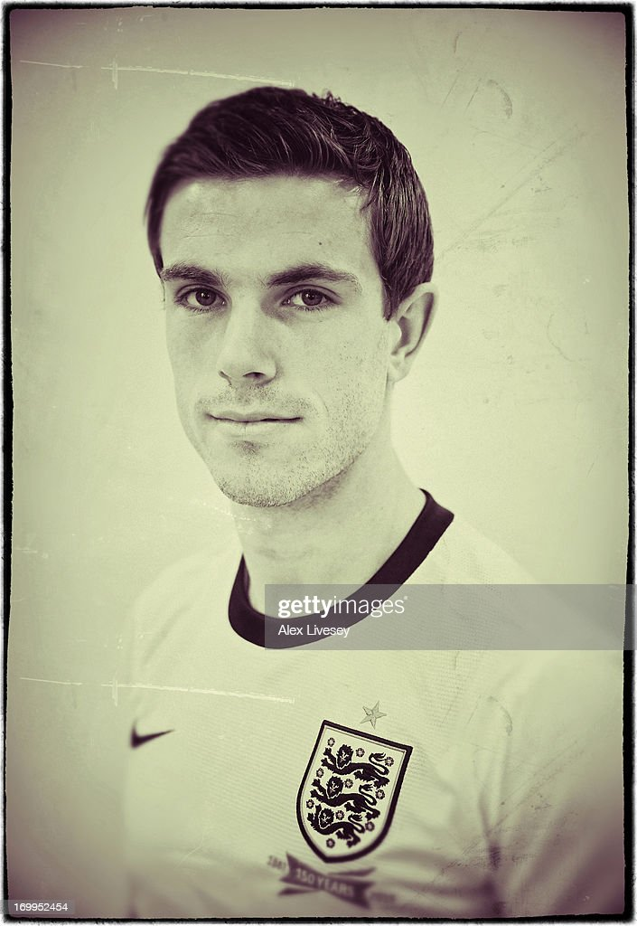 Jordan Henderson of England Under-21s poses for a portrait at St Georges Park on March 19, 2013 in Burton-upon-Trent, England.