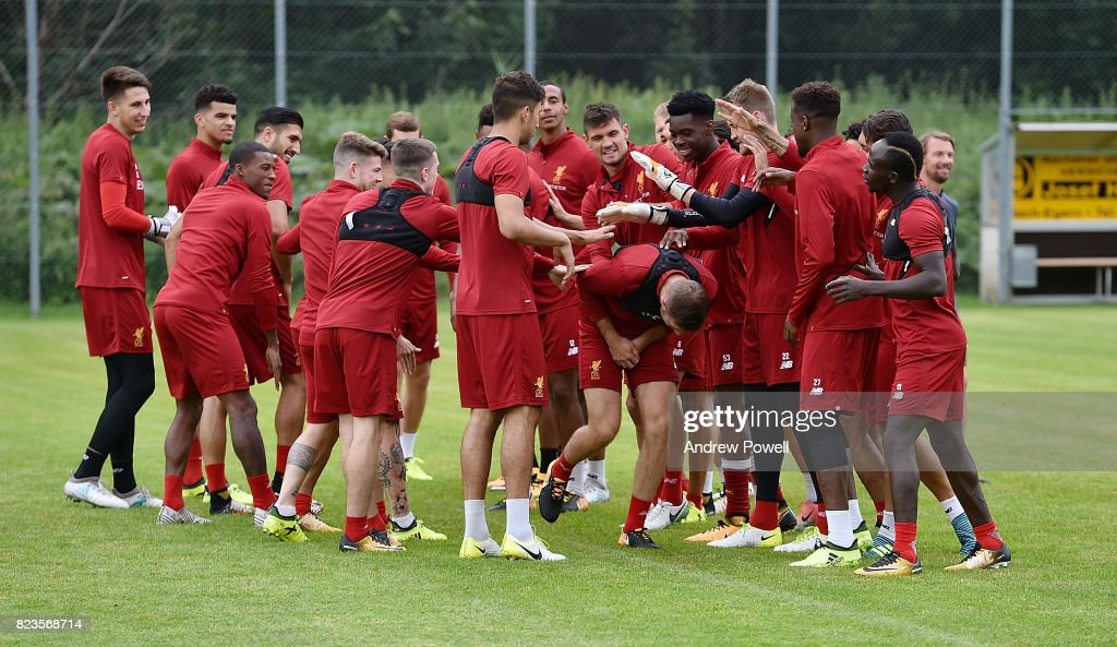 Jordan Henderson of Liverpool during a training session at Rottach-Egern on July 27, 2017 in Munich, Germany.