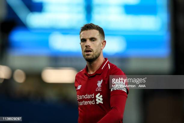 Jordan Henderson of Liverpool during the Premier League match between Everton FC and Liverpool FC at Goodison Park on March 3 2019 in Liverpool...