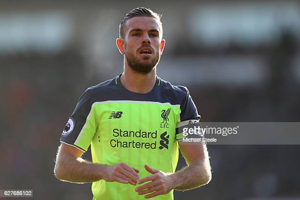 Jordan Henderson of Liverpool during the Premier League match between AFC Bournemouth and Liverpool at the Vitality Stadium on December 4 2016 in...