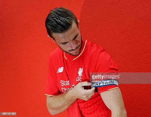 Jordan Henderson of Liverpool is appointed new captain on July 10, 2015 in Liverpool, England.