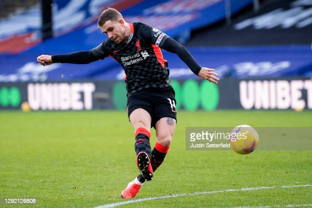 Jordan Henderson of Liverpool scores the 4th goal during the Premier League match between Crystal Palace and Liverpool at Selhurst Park on December...