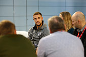 burtonupontrent england jordan henderson speaks to