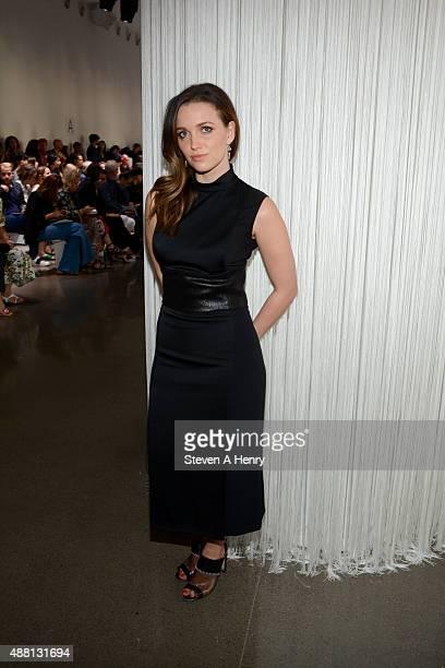 Jordan Hewson attends Edun front row during Spring 2016 New York Fashion Week at Spring Studios on September 13 2015 in New York City