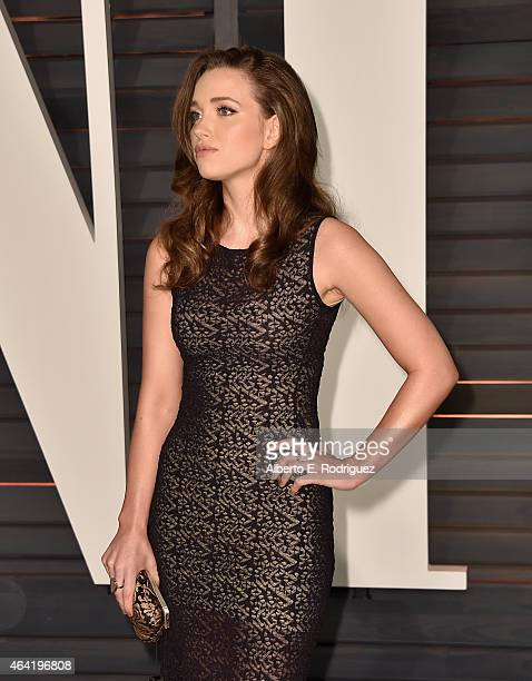 Jordan Hewson attends the 2015 Vanity Fair Oscar Party hosted by Graydon Carter at Wallis Annenberg Center for the Performing Arts on February 22...