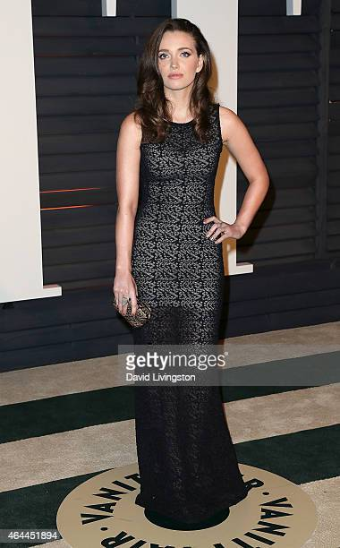 Jordan Hewson attends the 2015 Vanity Fair Oscar Party hosted by Graydon Carter at the Wallis Annenberg Center for the Performing Arts on February 22...