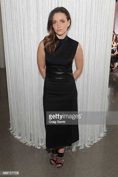 Jordan Hewson attends the Edun Spring 2016 fashion show during New York Fashion Week at Spring Studios on September 13 2015 in New York City