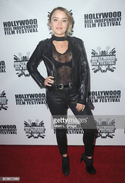 Jordan Hinson attends the 17th Annual Hollywood Reel Independent Film Festival Award Ceremony Red Carpet Event held at Regal Cinemas LA LIVE Stadium...