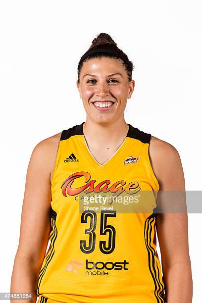 Jordan Hooper of the Tulsa Shock poses for a portrait during Media Day on May 26 2015 at the BOK Center in Tulsa Oklahoma NOTE TO USER User expressly...