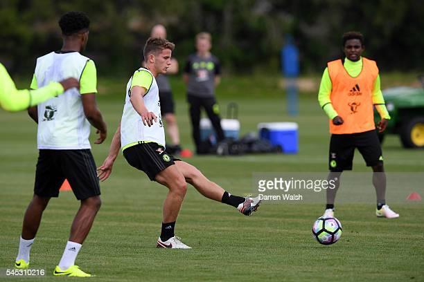 Jordan Houghton at Chelsea Training Ground on July 6 2016 in Cobham England