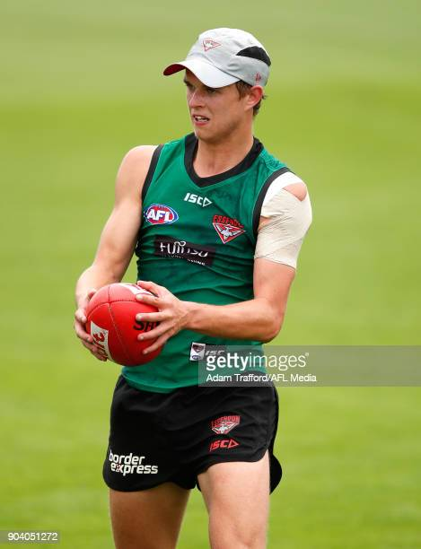Jordan Houlahan of the Bombers in action during the Essendon Bombers training session at The Hangar on January 12 2018 in Melbourne Australia