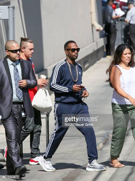 Jordan Houston aka 'Juicy J' is seen at 'Jimmy Kimmel Live' on August 07 2017 in Los Angeles California