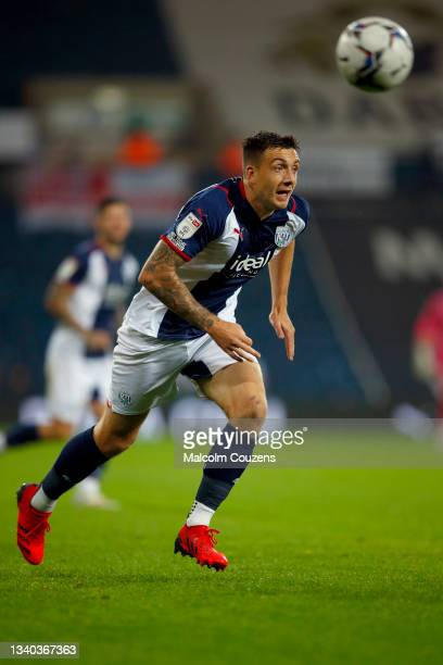 Jordan Hugill of West Bromwich Albion chases the ball during the Sky Bet Championship match between West Bromwich Albion and Derby County at The...