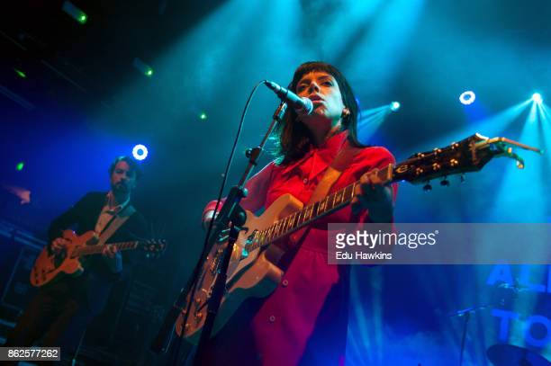 Jordan Hyde and Alynda Segarra of Hurray for the Riff Raff perform live on stage at KOKO on October 17 2017 in London England