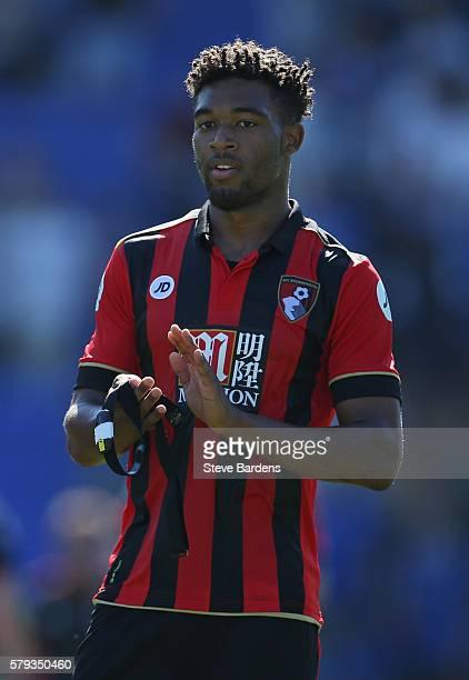 Jordan Ibe of AFC Bournemouth applauds supporters after a PreSeason Friendly match between Portsmouth FC and AFC Bournemouth at Fratton Park on July...