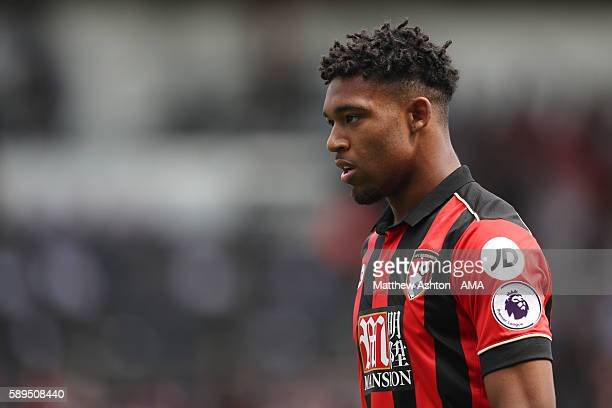 Jordan Ibe of AFC Bournemouth during the Premier League match between AFC Bournemouth and Manchester United at Vitality Stadium on August 14 2016 in...