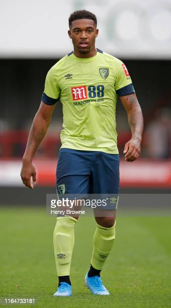 Jordan Ibe of AFC Bournemouth during the Pre-Season Friendly match between Brentford FC and AFC Bournemouth at Griffin Park on July 27, 2019 in...