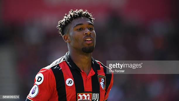 Jordan Ibe of AFC Bournemouth in action during the Premier League match between AFC Bournemouth and Manchester United at Vitality Stadium on August...