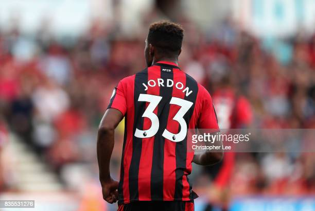Jordan Ibe of AFC Bournemouth in action during the Premier League match between AFC Bournemouth and Watford at Vitality Stadium on August 19 2017 in...