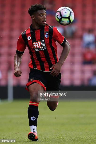 Jordan Ibe of Bournemouth during a preseason match between Bournemouth and Cardiff City at Goldsands Stadium on July 30 2016 in Bournemouth England