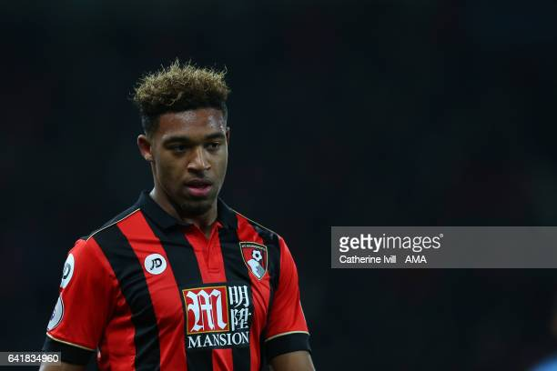 Jordan Ibe of Bournemouth during the Premier League match between AFC Bournemouth and Manchester City at Vitality Stadium on February 13 2017 in...