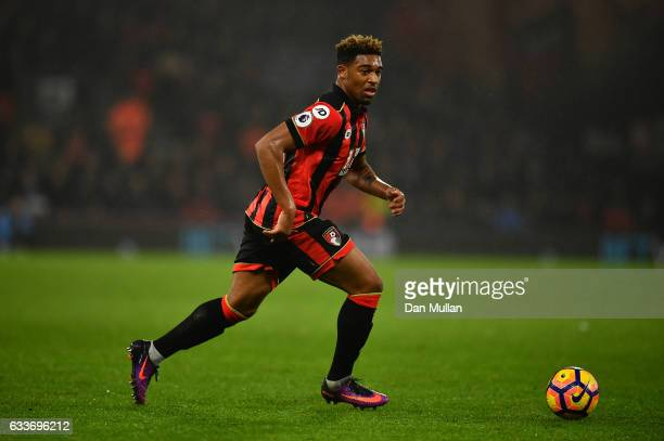 Jordan Ibe of Bournemouth in action during the Premier League match between AFC Bournemouth and Crystal Palace at Vitality Stadium on January 31 2017...
