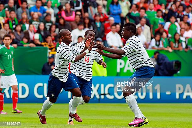Jordan Ikoko of France celebrate a scored goal with teammates during the FIFA U17 World Cup Mexico 2011 Quarter final match between France and Mexico...