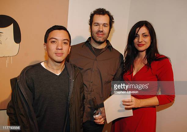 Jordan Isip James Gallagher and Alix Sloan during Virgin Mobile ReGeneration Art Auction and Party December 13 2006 at The Xchange in New York New...