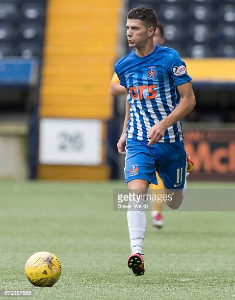 Jordan Jones of Kilmarnock during the Betfred Cup First Round between Kilmarnock Football Club and Morton at Rugby Park on July 23 2016 in Kilmarnock...